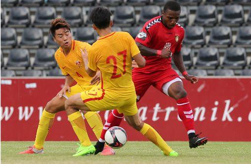 Chinesische Auswahl spielt gegen Regionalligisten