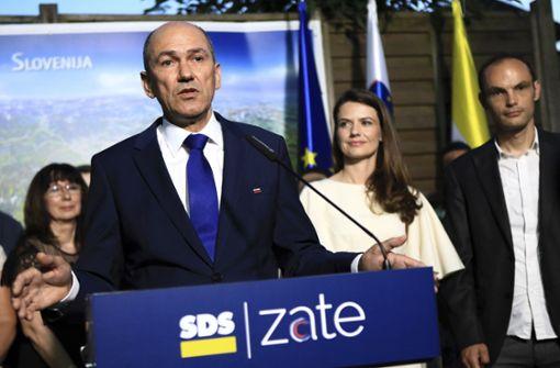 Die konservative Demokratische Partei (SDS) von Oppositionsführer Janez Jansa  hat am Sonntag die slowenischen Parlamentswahlen  gewonnen. Foto: AP