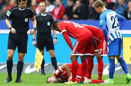 Franck Ribery hat wohlmöglich einen Außenbandriss erlitten. Foto: Bongarts