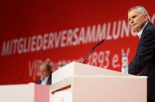 Wolfgang Dietrich ist bei der VfB-Mitgliederversammlung in der Schleyerhalle in Bad Cannstatt zum Präsidenten gewählt worden. Foto: Pressefoto Baumann