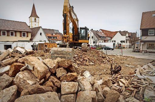Tabula rasa in der Holzgerlinger Stadtmitte