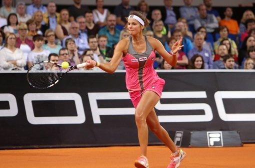 Julia Görges, Siegerin beim Porsche Tennis Grand Prix 2011, steht auch drei Jahre später im Achtelfinale von Stuttgart Foto: Pressefoto Baumann