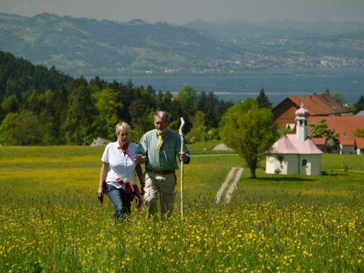 Wendilinskapelle mit Bodenseeblick  Foto: Scheidegg-Tourismus