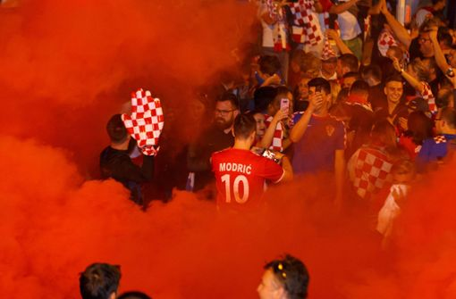 Mehr als 3000 kroatische Fans ...  Foto: 7aktuell.de | Amr Moustafa