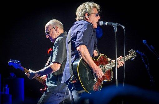 Sie können es noch: Pete Townshend (li.)  und Roger Daltrey von The Who am Montagabend in der Schleyerhalle Foto: Lichtgut/Achim Zweygarth