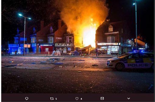 Berichte über Explosion