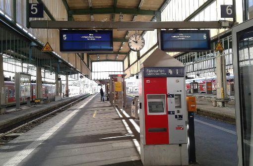 Auch in Stuttgart sind bei der Deutschen Bahn... Foto: 7aktuell.de/Andreas Friedrichs