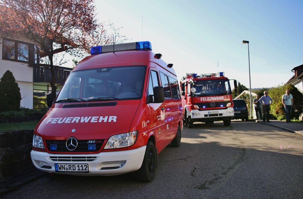 f1c51b04531fe2 Die Einsatzkräfte waren am Samstag um neun Uhr vor Ort im Ortsteil  Steinberg. Foto