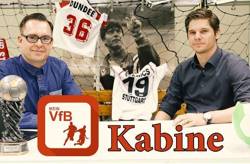 Die MeinVfB-Kabine mit Fokus auf Nürnberg