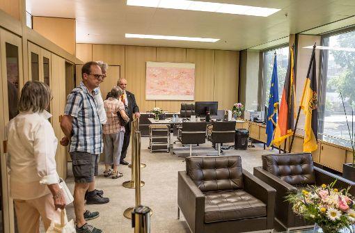 Das Arbeitszimmer der Landtagspraesidentin Mtuherem Aras durfen von den Besuchern betreten werden. Foto: Lichtgut/Julian Rettig