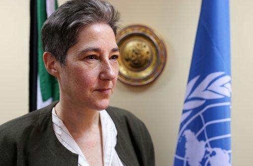 """Marta Ruedas bezeichnet die Situation der Flüchtlinge im Westsudan als """"schrecklich"""". Foto: AFP"""
