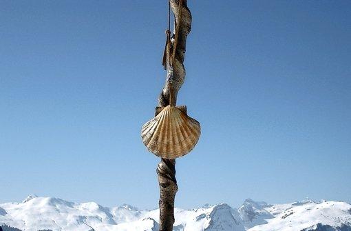 Die Muschel ist auf dem Jakobsweg ein steter Begleiter. Foto: Jürgen Schimanski