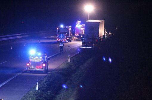 Mann überfahren – Polizei sperrt A8