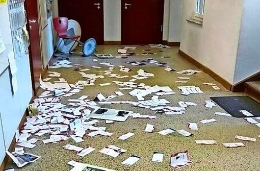 Vandalen wüten in der Alten Lateinschule