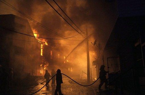 Feuer wütet in Hafenstadt Valparaíso