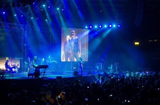 Die Band a-ha 2016 bei ihrem Konzert in Stuttgart. Diesmal kommen sie ohne Elektroapparatur Foto: Martin Stollberg