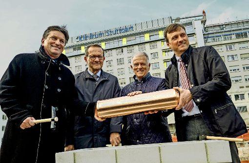 Grundstein für  zentralen Neubau gelegt
