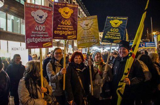 400. Montagsdemonstration gegen Stuttgarter 21 Foto: SDMG