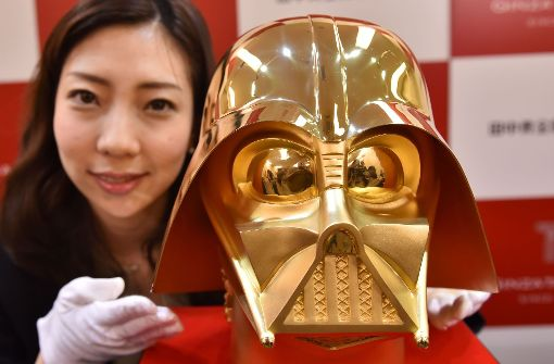 Darth Vaders Maske in der Gold-Edition