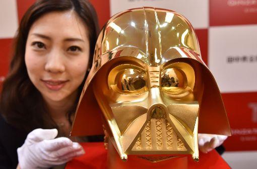 Darth Vaders Maske in der Gold-Edition