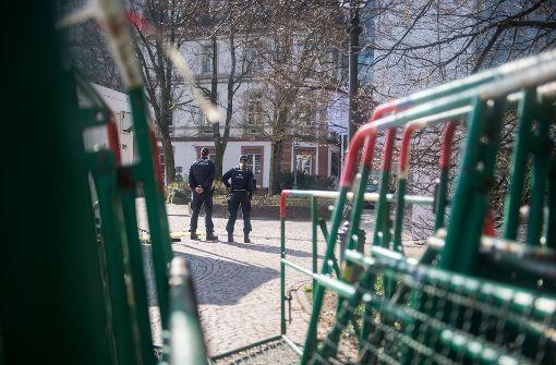 Polizisten kontrollierten während des Gipfels die Innenstadt von Baden-Baden Foto: dpa