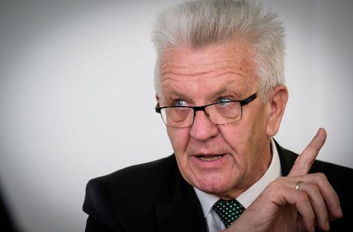 Winfried Kretschmann ist zuversichtlich, dass die Feinstaubprobleme in Stuttgart ohne Fahrverbote gelöst werden können. Foto: Lichtgut/Achim Zweygarth