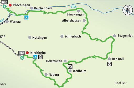 Radeln zwischen Neckar, Fils und Alb