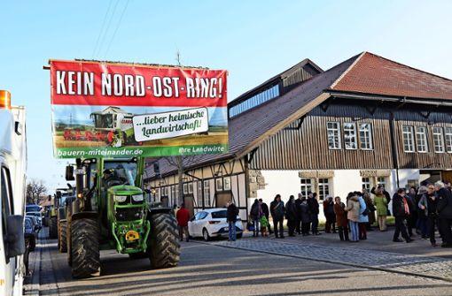 Bauern-Protest stört  die CDU-Prominenz nicht