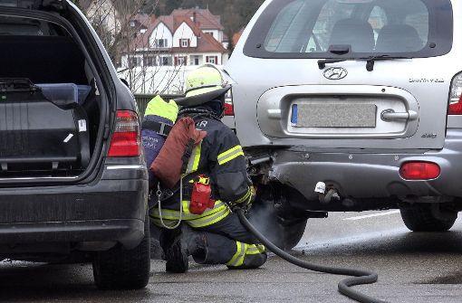 Unfall mit Flüssiggas-Auto ruft Feuerwehr auf den Plan