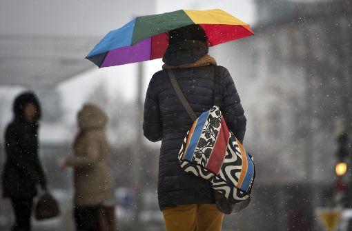 Anstelle von Schnee fällt am Montag vor allem Regen in der Region Stuttgart. Foto: dpa