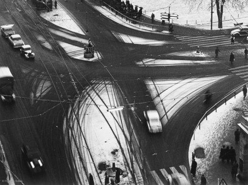 Spuren im Schnee, 1955 Foto: © Hannes Kilian