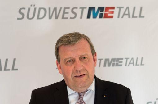 Stefan Wolf ist Vorsitzender von Südwestmetall, dem Arbeitgeberverband im Südwesten. Foto: dpa