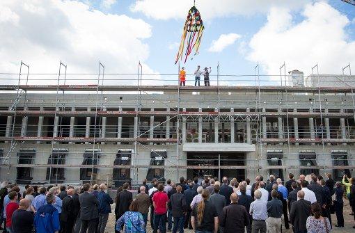 Richtfest für das neue Prozessgebäude in Stuttgart-Stammheim. Foto: dpa