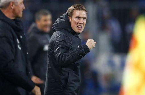 """HSV-Trainer Wolf bittet Fans: """"Kein Feuerzeug mitnehmen"""""""