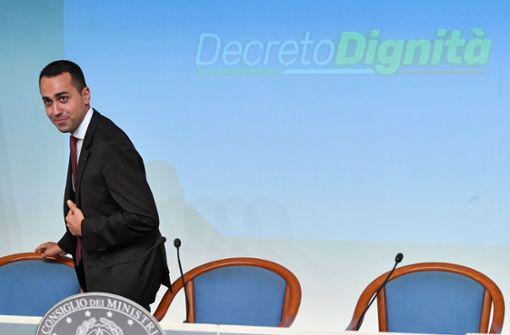 Luigi Di Maio eckt mit Arbeitsmarktreform an
