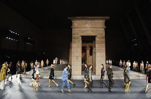 Die Schauen der Chanel Metiers D'Art sind immer spektakulär. Foto: AFP