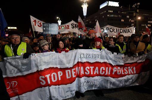 Hektische Betriebsamkeit der Regierung in Polen