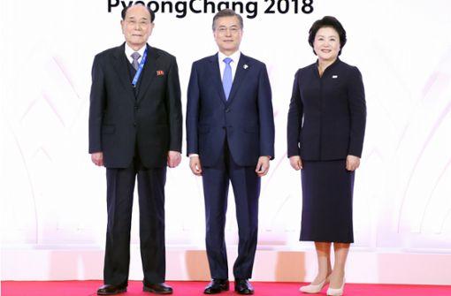 Nordkoreanische Delegation in Pyeongchang eingetroffen