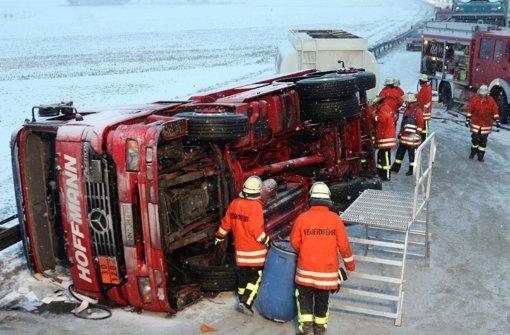 Ein Unfall bei Esslingen (2006) Foto: dpa