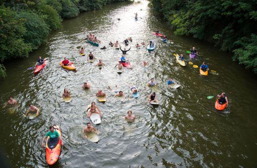 Eine Surfwelle auf dem Neckar wäre machbar