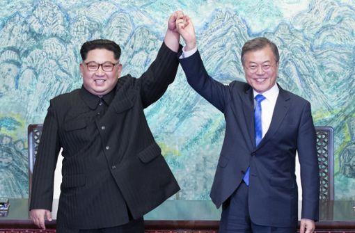 Südkoreas Präsident Moon trifft nordkoreanischen Machthaber Kim