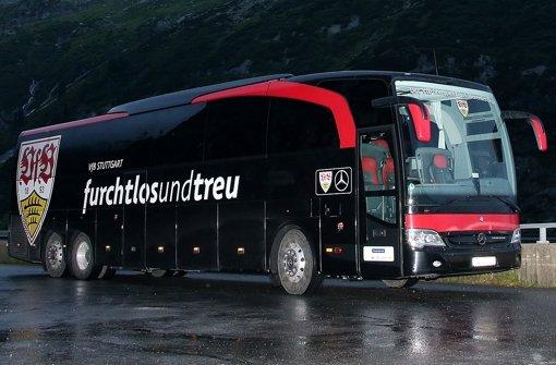 Das neue Vereins-Motto des VfB: furchtlos und treu Foto: Pressefoto Baumann