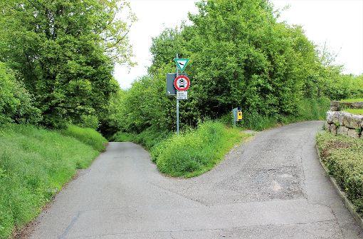 Der Weg nach links ist für den Durchgangsverkehr tabu. Nur halten sich nicht alle daran. Foto: Archiv Holowiecki