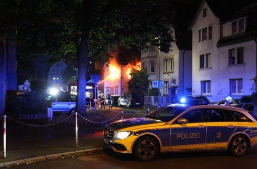 Das Feuer war im ersten Stock ausgebrochen. Foto: 7aktuell.de/Christina Zambito