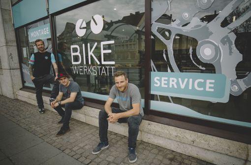 Mitten in der Stadt läuft das Geschäft mit dem Rad