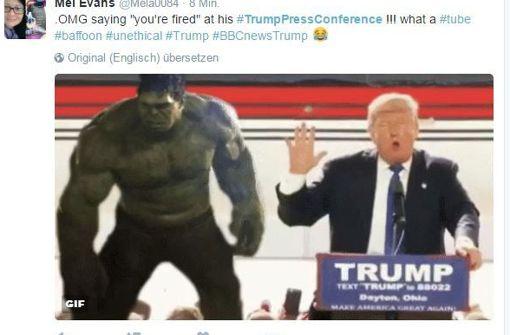 Abscheu und Entsetzen unter #TrumpPressConference