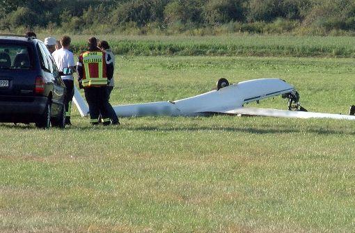Eine Person starb beim Absturz des Segelflugzeugs in Hockenheim. Foto: pr-video