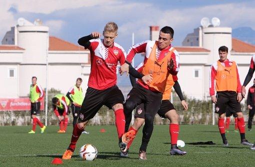Der VfB Stuttgart absolviert am Mittwoch im Trainingslager ein Testspiel gegen Hannover 96.  Foto: Pressefoto Baumann