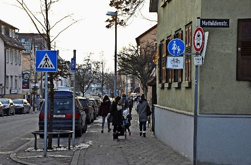 Engpass an der Pforzheimer Straße