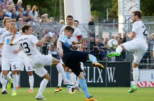 Stuttgarter Kickers spielen gegen Ulm